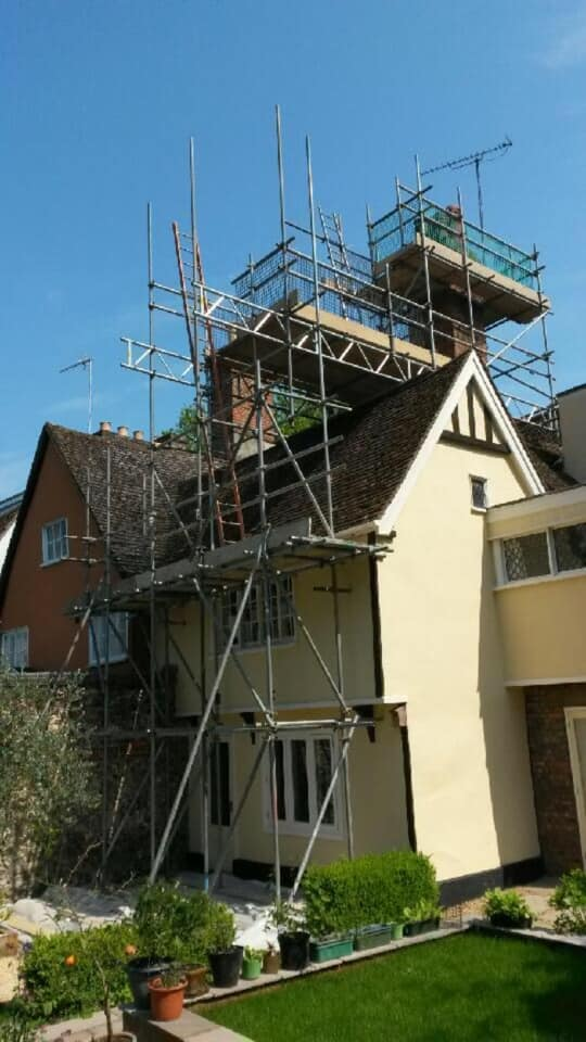 Scaffolding for Chimney Repairs Cambridge